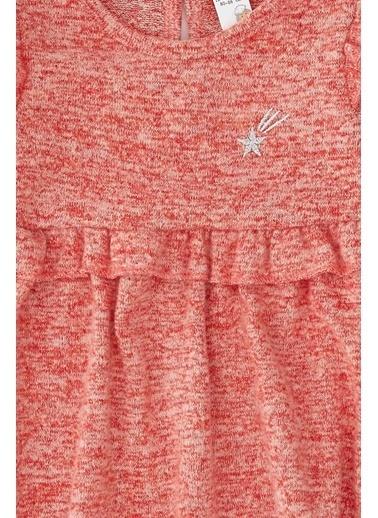 DeFacto Kız Bebek Nakış İşleme Elbise Kırmızı